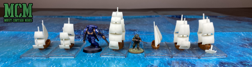 Scale Comparison Image of Oak & Iron Ships