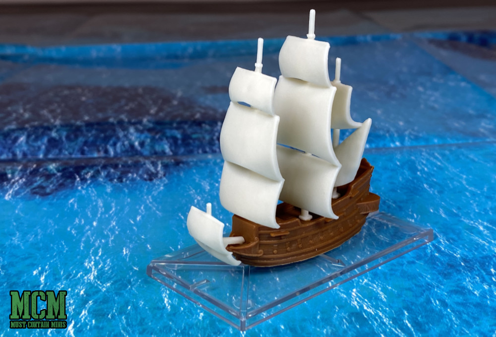 A miniature model Galleon for Oak & Iron by Firelock Games - 1/600th scale