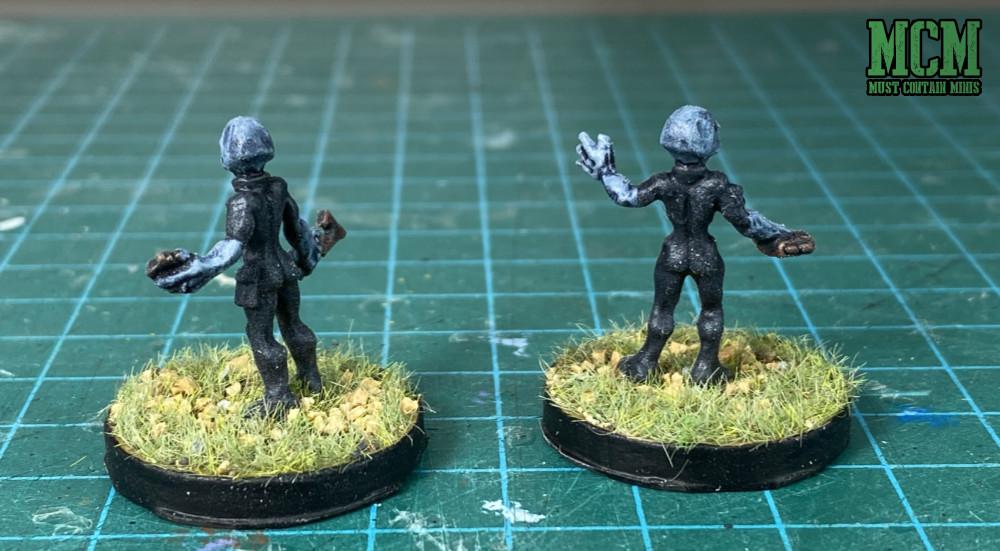 Painted Gray Alien miniatures