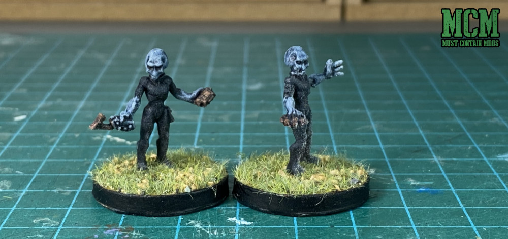 Painted Gray Aliens for miniatures games like StarGrave, Rogue Stars, Five Parsecs from Home and more.