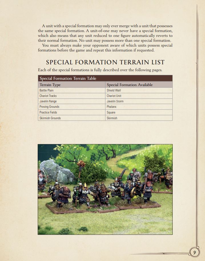 Special Formations in Oathmark - Sample Page