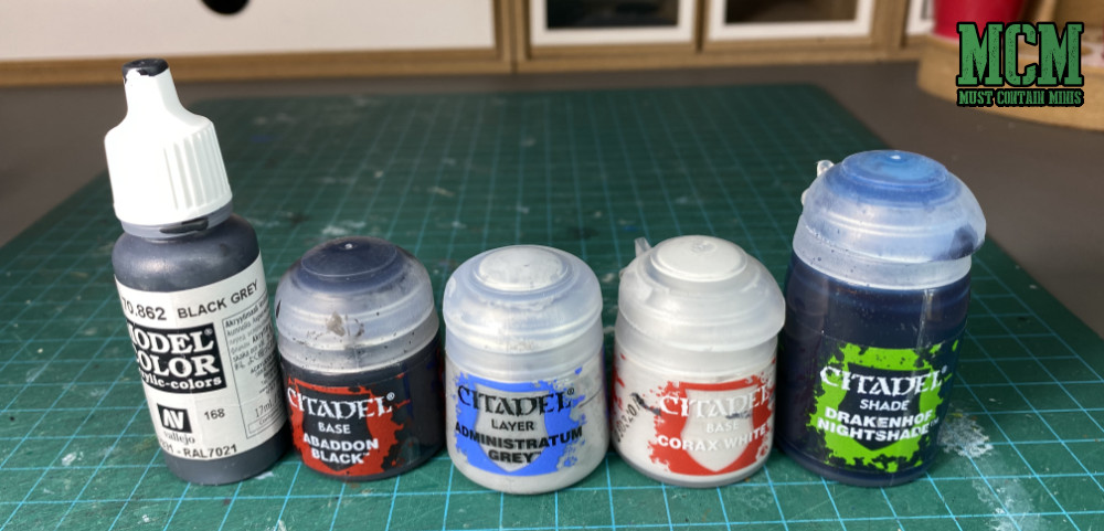 Paints I used to paint the Cerulean Clade Posse