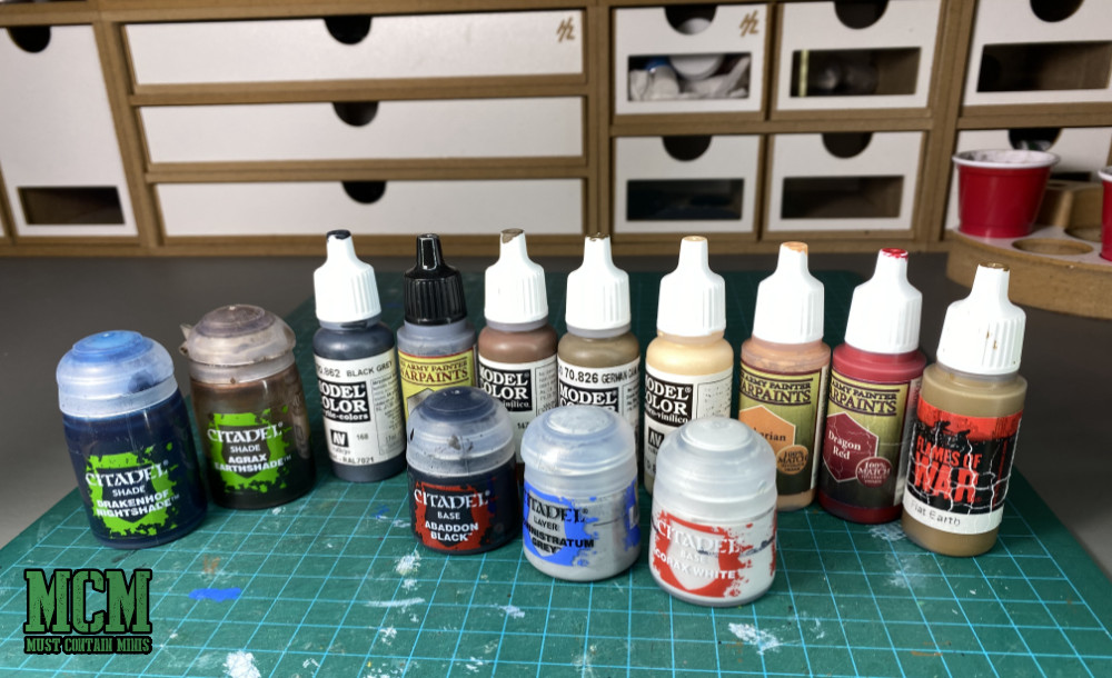 Paints I used to paint the Cerulean Clade Posse - Painting up Watchers for Wild West Exodus
