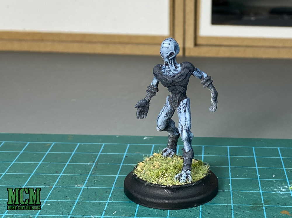 A Cerulean Prime Miniature. This is the leader of the Cerulean Clade Posse for Wild West Exodus