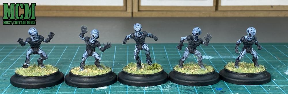 Grey Aliens in Miniature form from Wild West Exodus.