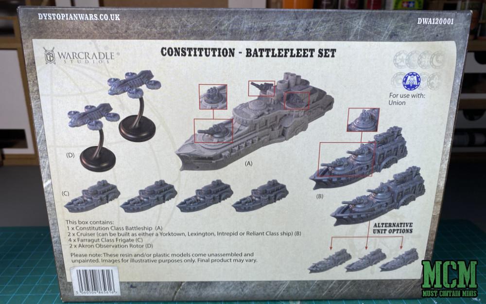 Constitution Battlefleet - Back of the box