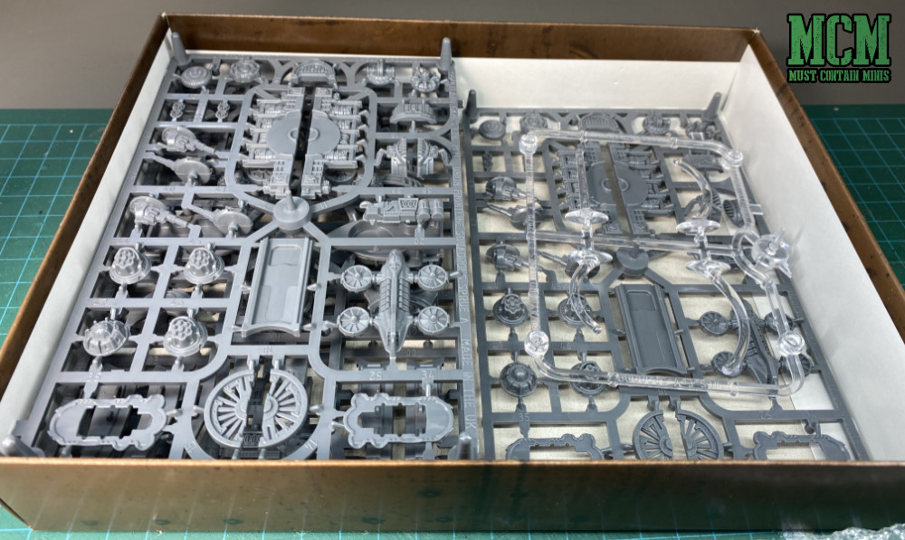The plastic sprues in the box