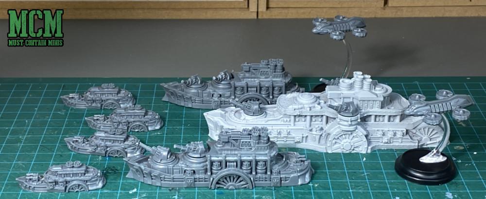 Constitution Battlefleet Review - The full fleet from the box