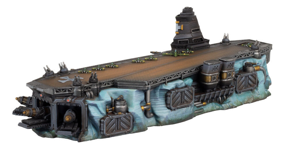 The Ice Maiden Dreadnought Super-Carrier for Dystopian Wars.
