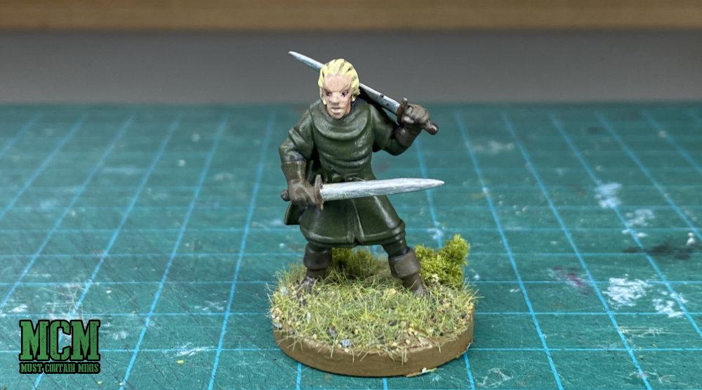 Painted Elf Warrior - 28mm miniature
