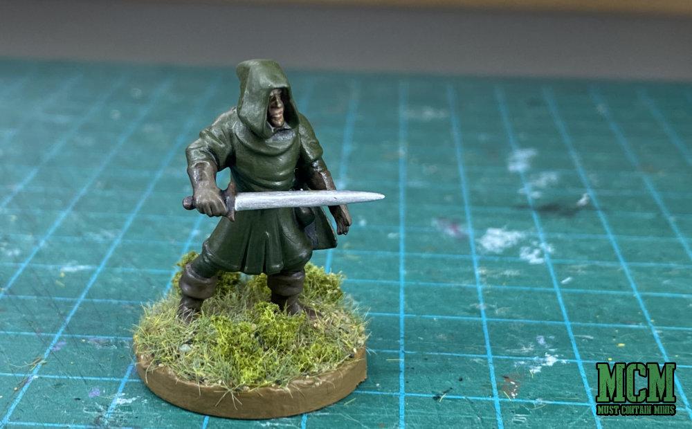 Oathmark Light Elf Infantry miniature built and painted