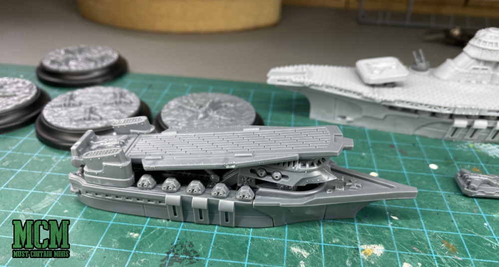 A Konrad Carrier for Dystopian Wars - Part of the Imperial Fleet - Prussians.