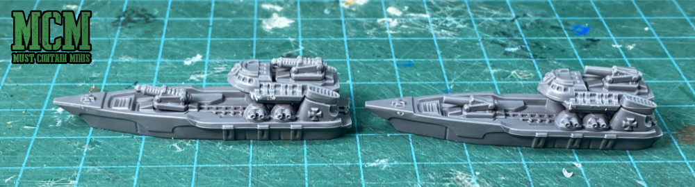 The Toten Class and Sigimer Class Destroyers for Dystopian Wars. Imperium ships