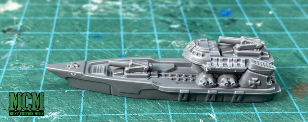 A close up of the Sigimer class Destroyer from the Tempelhof Battlefleet Box Set.