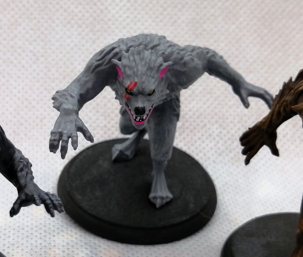 Painted Werewolves for Shadows of Brimstone - Painted and photographed by Dave Lamers