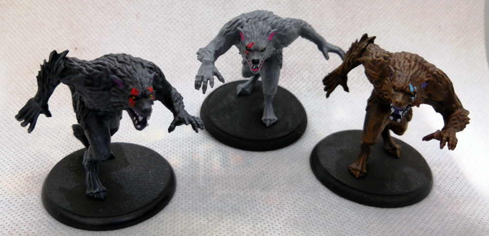 Shadows of Brimstone painted werewolf miniatures by Commission Painter Dave Lamers of Ontario - Canada