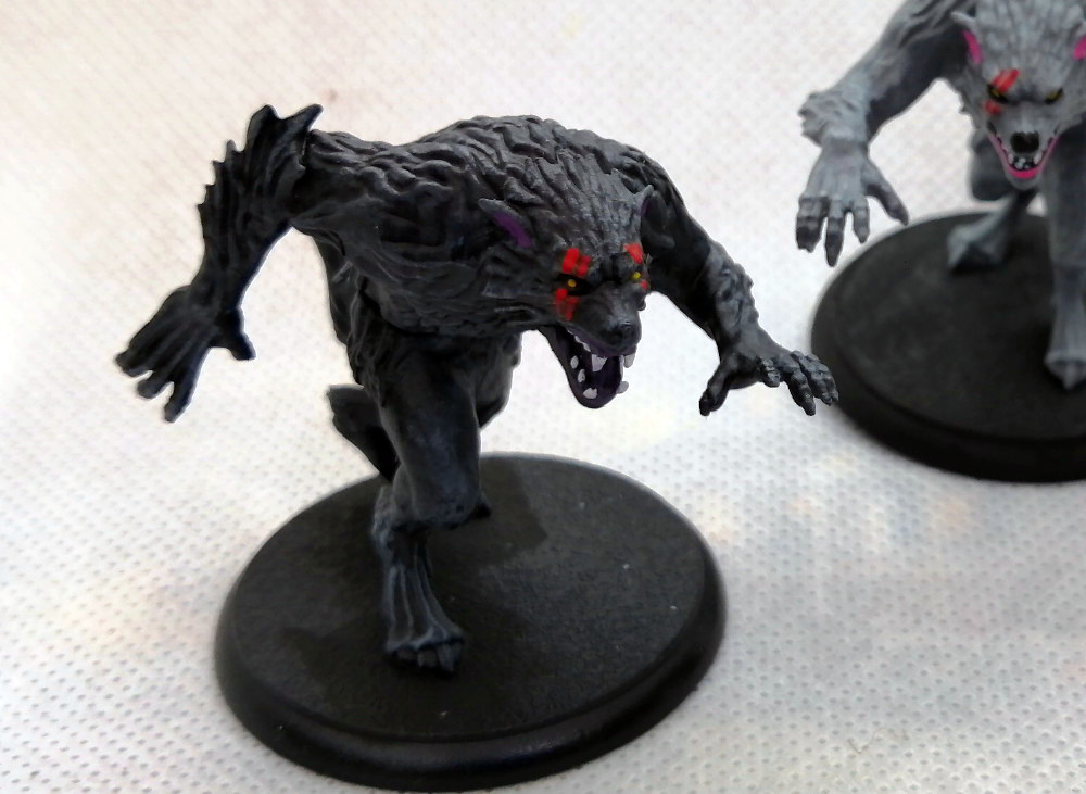 Painted Werewolves for Shadows of Brimstone