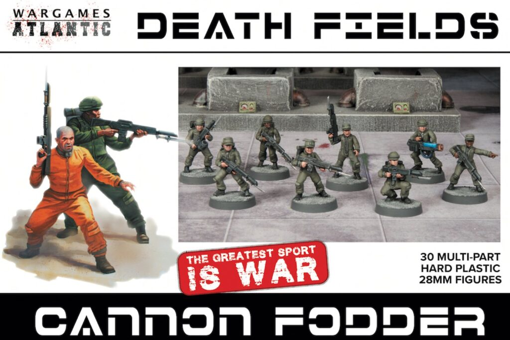 Box Art of Wargames Atlantic Cannon Fodder miniatures. Extremely affordable Guard Proxies