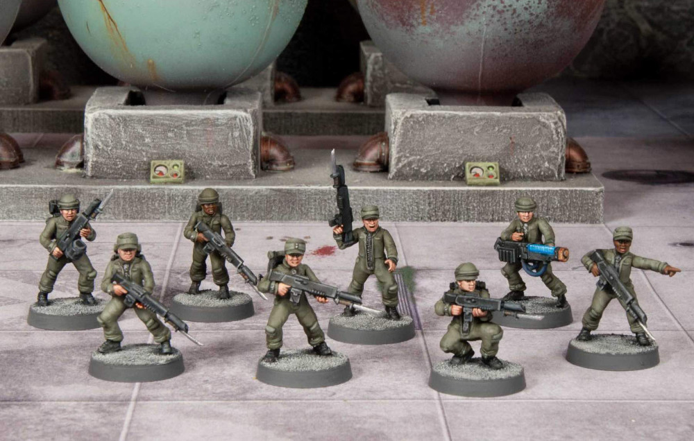Wargames Atlantic Cannon Fodder in jump suits