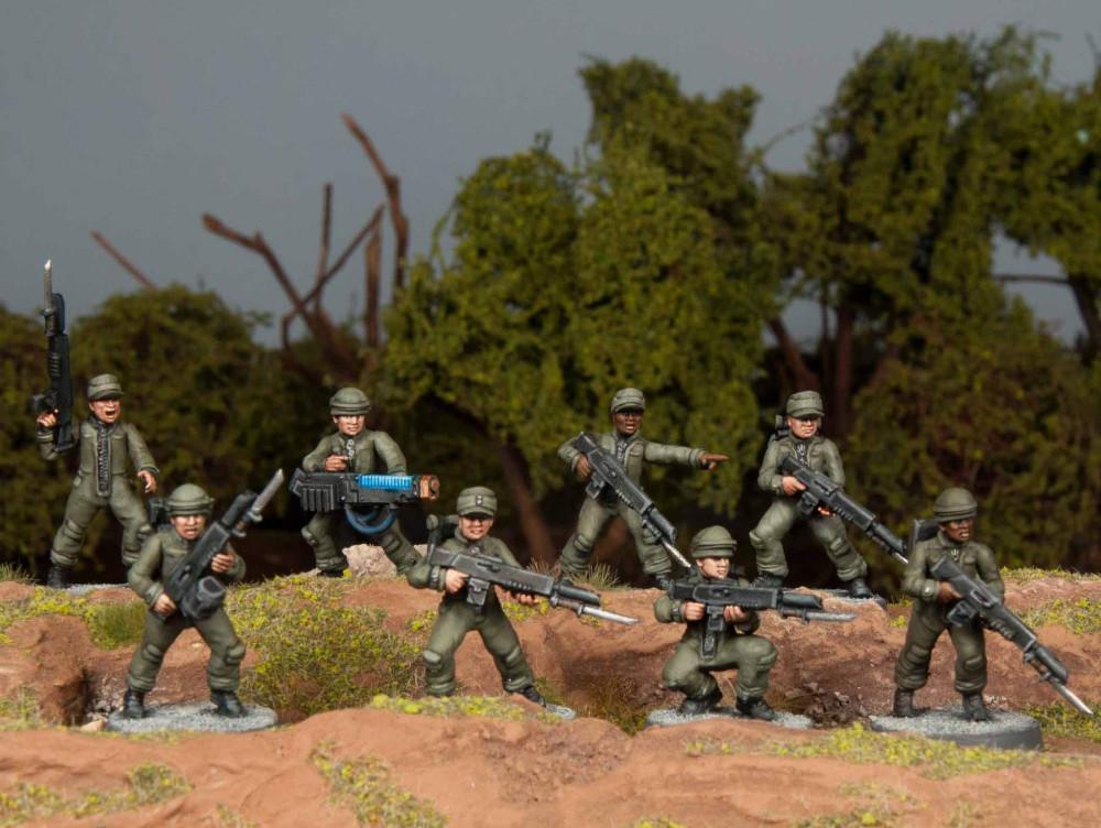 Conscript Guard Proxies - Wargames Atlantic Cannon Fodder 28mm miniatures