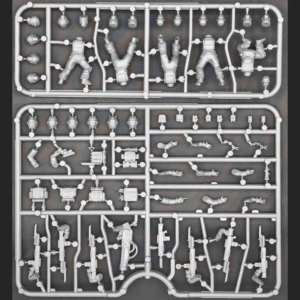 The Cannon Fodder Sprue by Wargames Atlantic for Death Fields