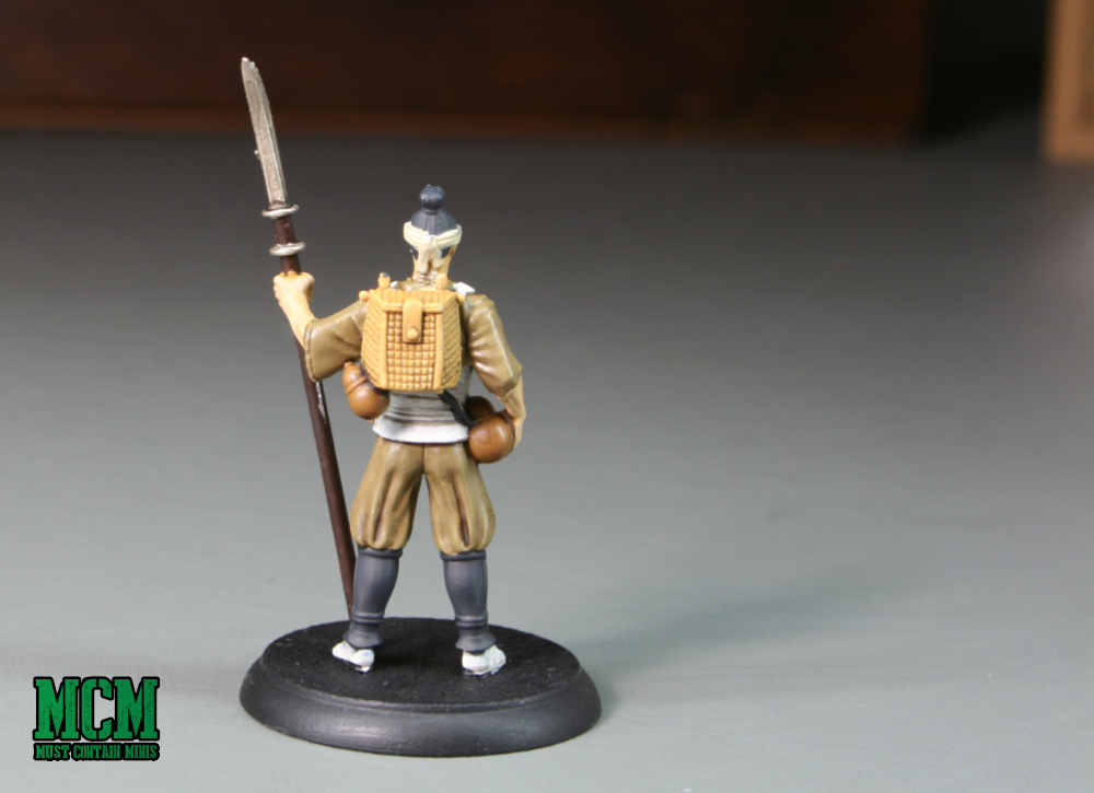 The Back of the miniature for Shadows of Brimstone: Forgotten Fortress. Painted Board Game Miniatures.