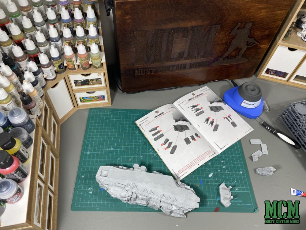 Building the Ice Maiden Battlefleet by Warcradle Studios