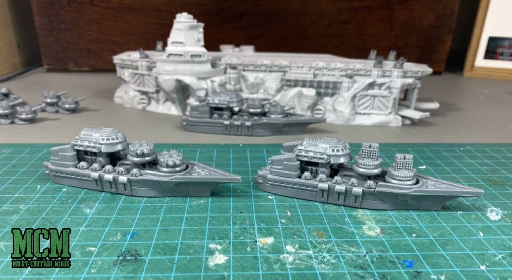 Dystopian Wars Imperium Cruisers
