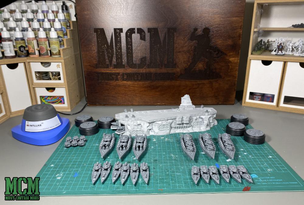 Ice Maiden Battlefleet - built