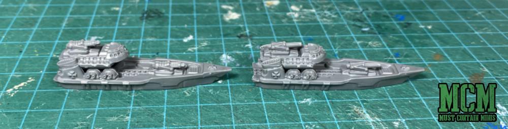1/1200th Destroyer miniatures