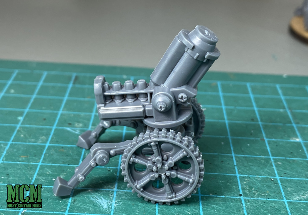 28mm auto mortar on a carriage