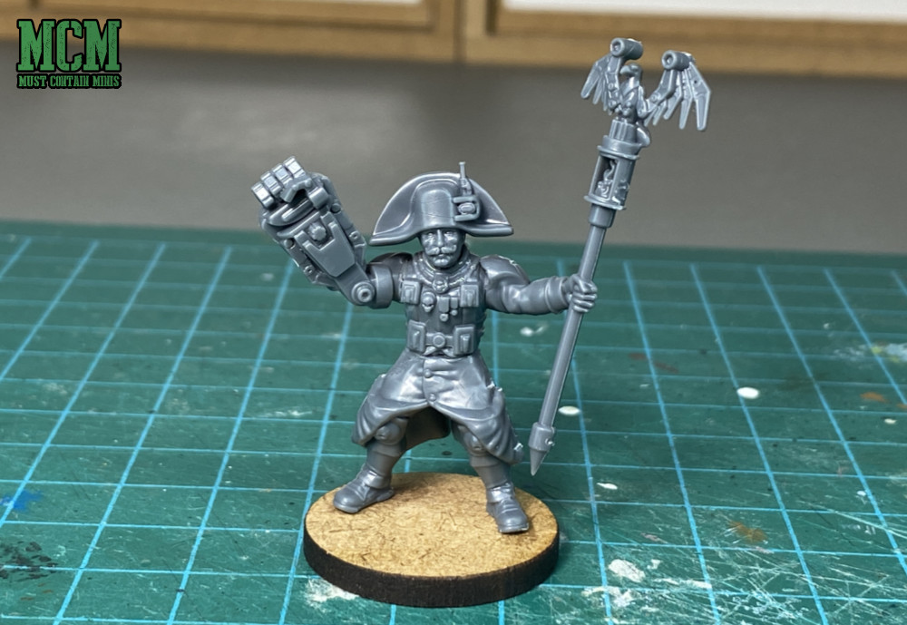 A proxy Lord Commissar - Miniature from Les Grognards Command and Heavy Support boxed set
