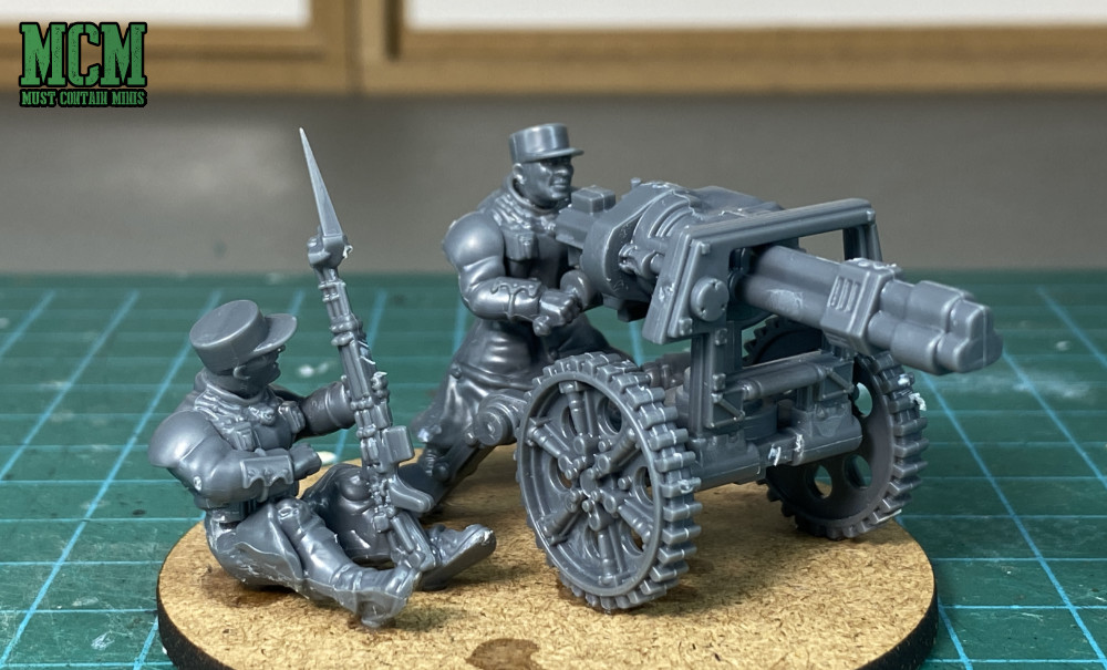 Wargames Atlantic tri-barreled cannon weapons team - Command and Heavy Support