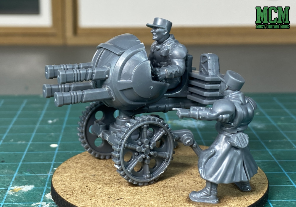A 28mm Quad gun from Wargames Atlantic Command and Heavy Support boxed set for Les grognards