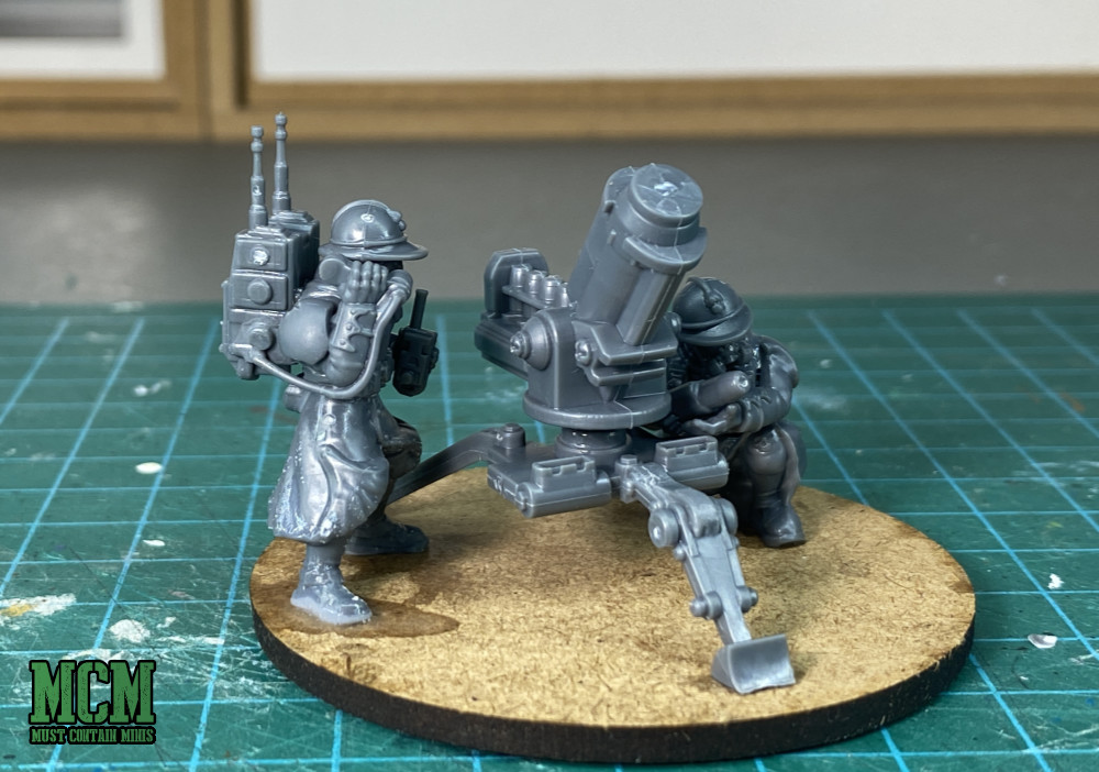 proxy Vox Caster and Mortar for astra militarium - Wargames Atlantic Command and Heavy Support Weapon