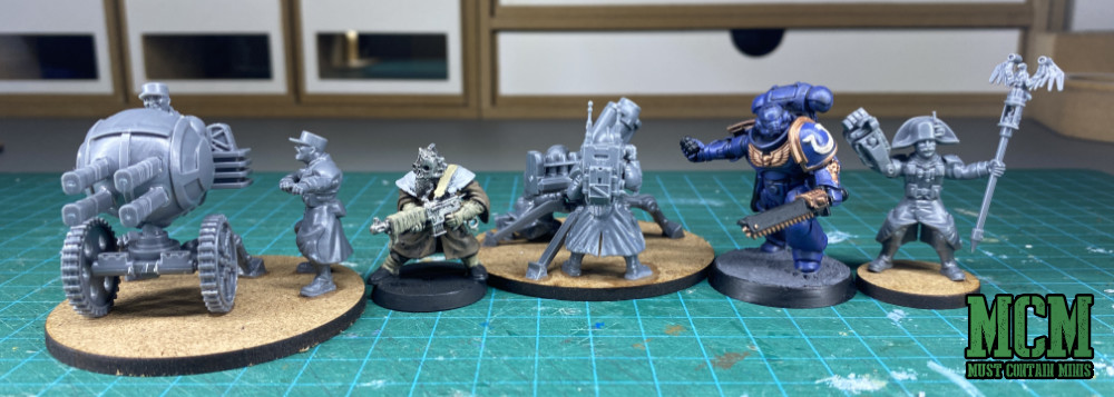 Scale Comparison - Games Workshop vs Wargames Atlantic - Warhammer 40K - Command and Heavy Support options