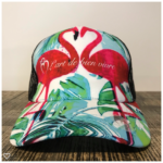 Casquette Flamand Rose Ponytail