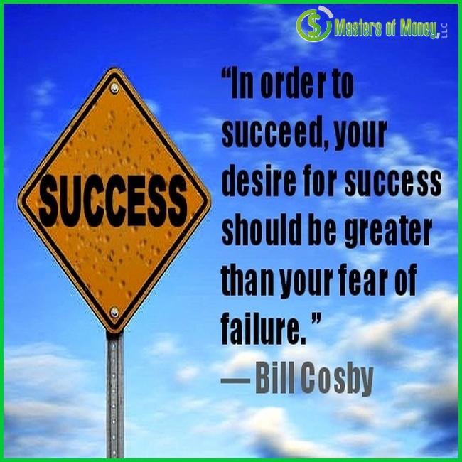 Masters of Money LLC Logo Branded Success Sign Quote Picture