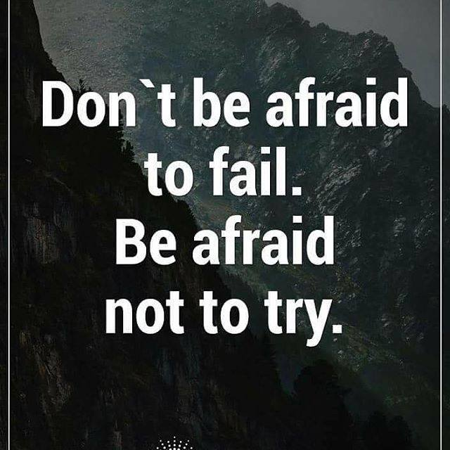 Don't be afraid to fail quote picture