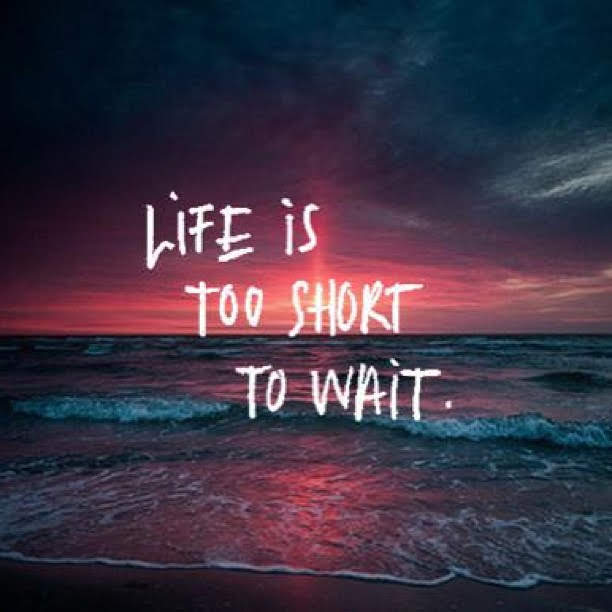 MASTERS OF MONEY LLC - LIFE IS TOO SHORT TO WAIT PICTURE QUOTE