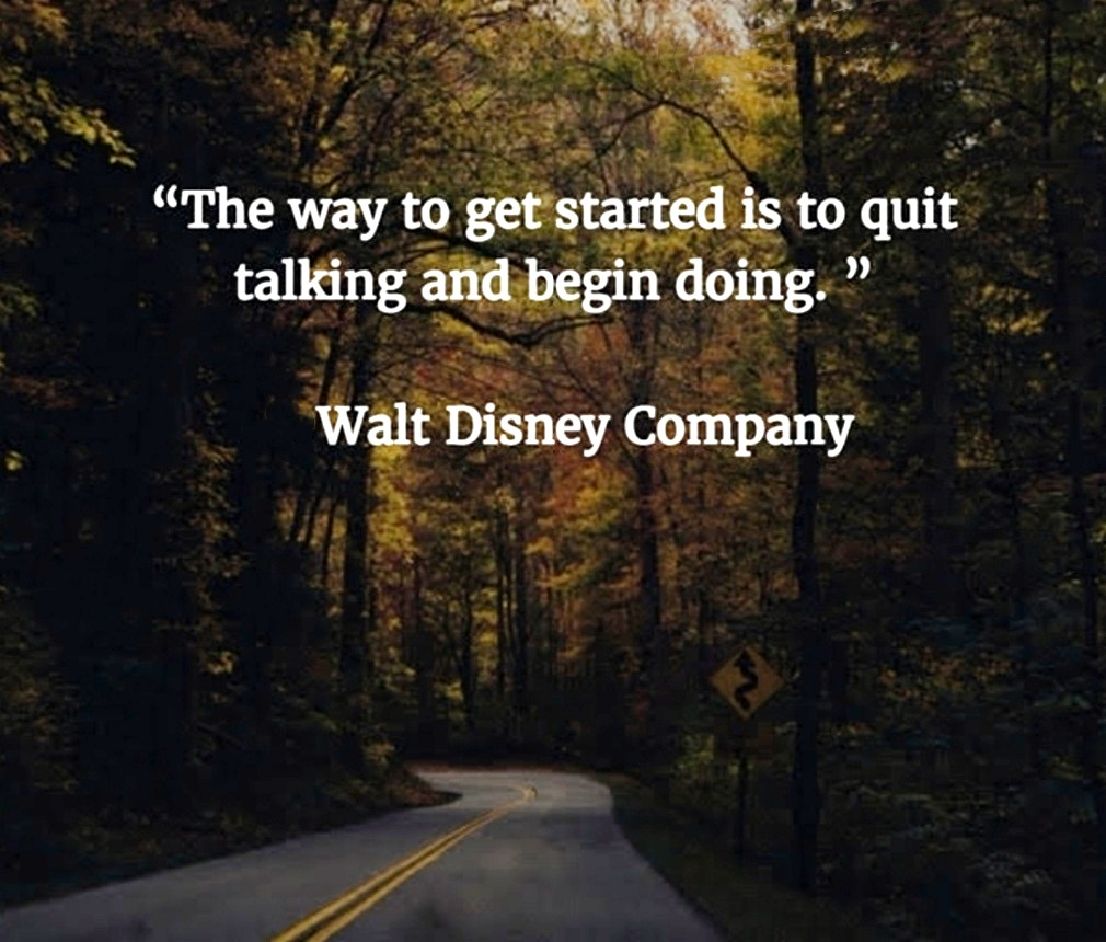 Masters of Money LLC Walt Disney Company Winding Road Picture Quote