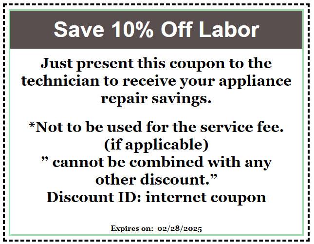 Appliance Repair Coupon