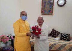 मंत्री मूलचंद शर्मा ने शहर के प्रतिष्ठित लोगों को किया सम्मानित