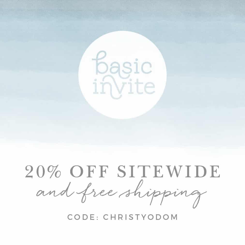 basic invite, baptism planning page