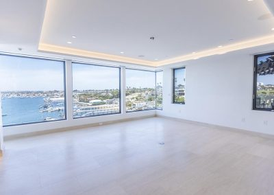 master bedroom with the view of the marina