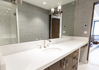 Bathroom sink with ample counter space