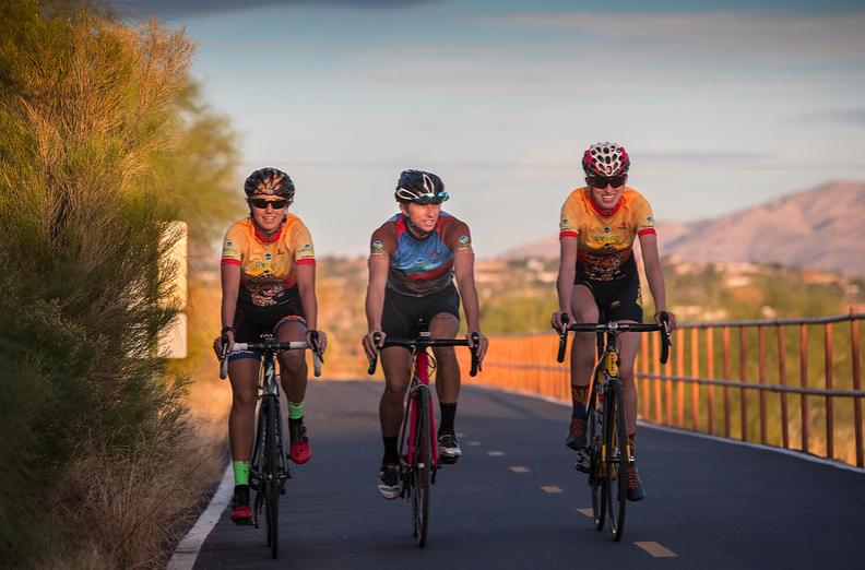 Riders on The Loop in Tucson
