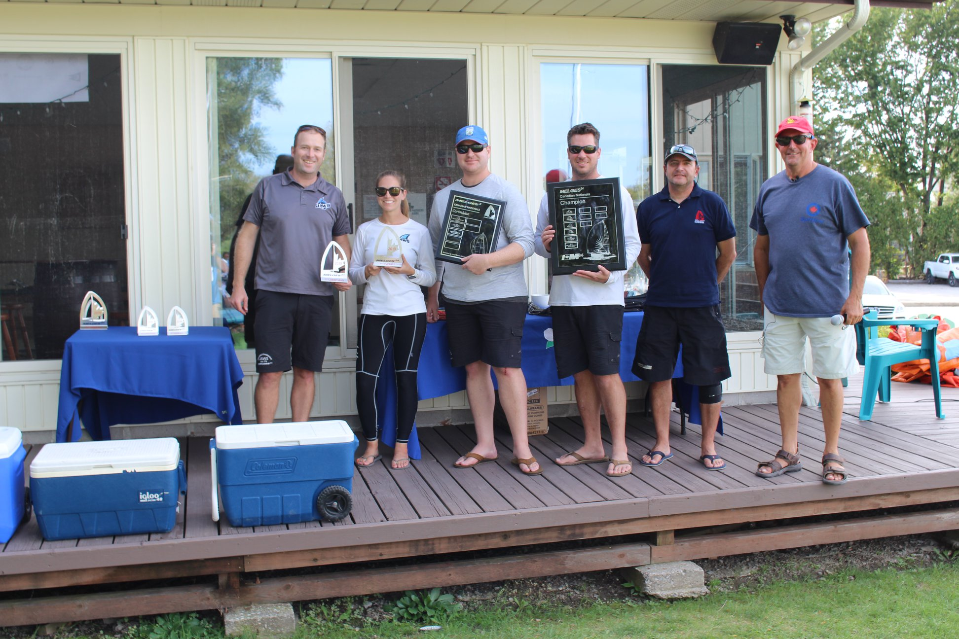 Team Jaws. 2019 Canadian Melges 24 National Championship