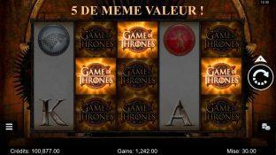 game of thrones - 5 de meme valeur