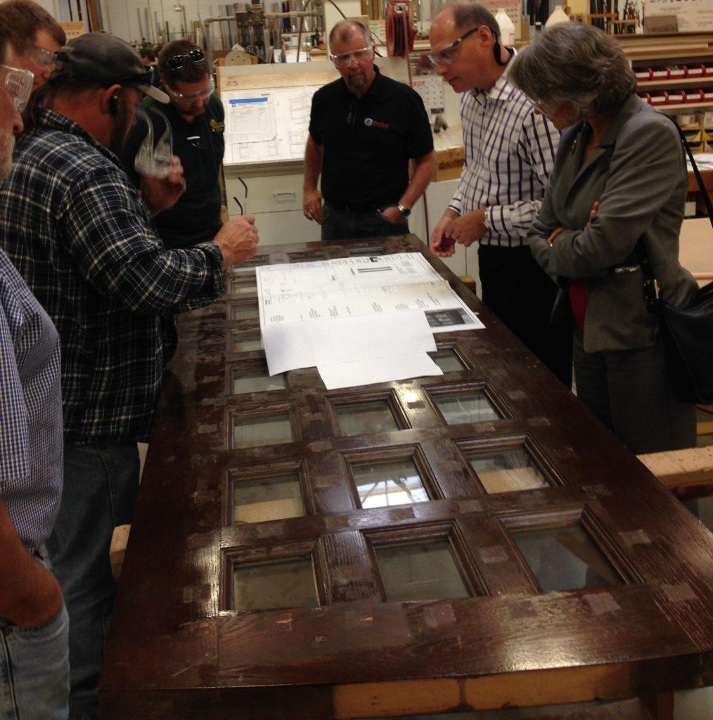 Illinois Wood Utilization Team Visits Bernhard Woodwork